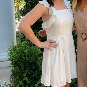 Cream ruffle dress